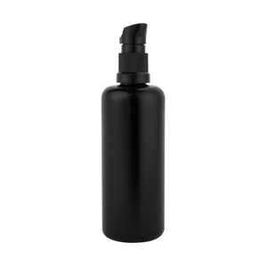 10ML 20ML 30ML 50ML 100ML Black Round Glass Lotion Bottle with Pump