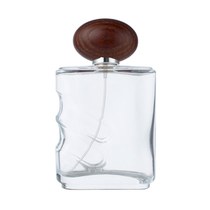 100ml Wholesale Glass Perfume Bottle with Wood Cap
