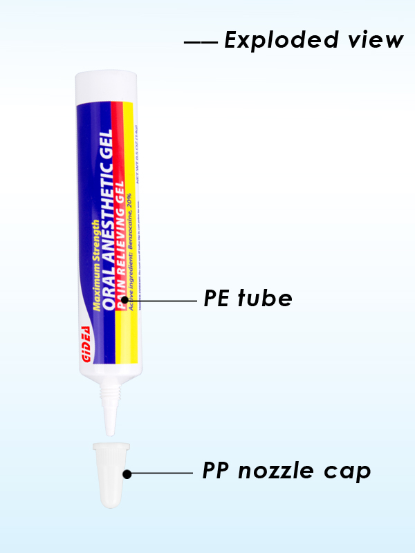 15g Colorful Nozzle PE Tube for Cosmetic