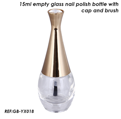15ml Unique Design Glass Nail Polish Bottle with Brush