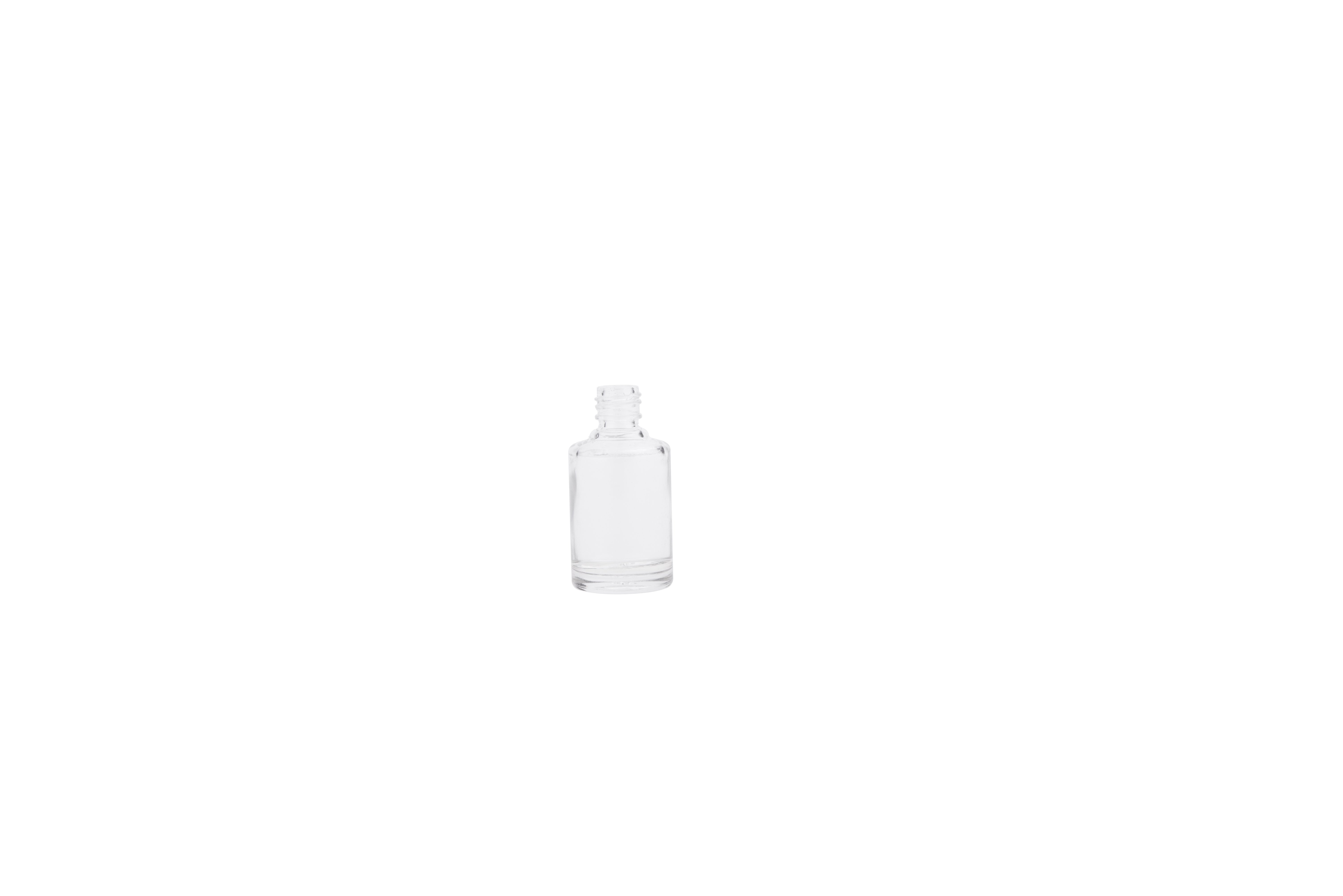 10ml Clear Square Nail Polish Bottle with Sliver Cap