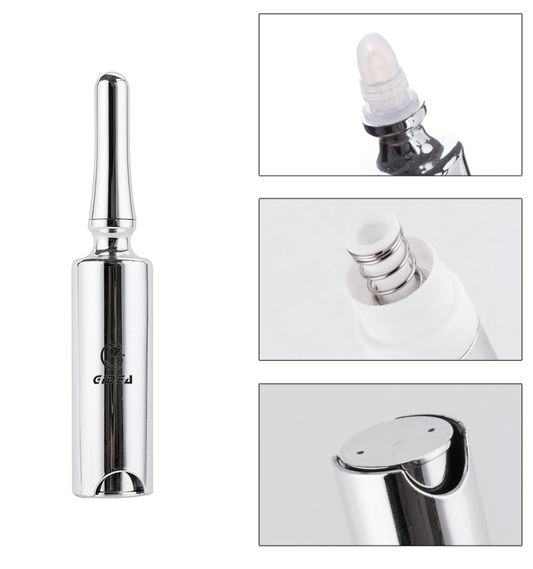 5ml PETG Silver Cosmetic Packaging Airless Bottle