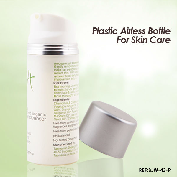 30/50/80/100/120ml White PP Airless Cosmetic Pump Bottle