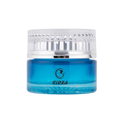 40g Blue Color Cream Jar Makeup Cosmetics Glass