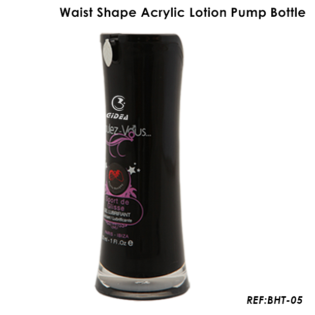 15ml 30ml 50ml Waist Shape Acrylic Pump Bottle
