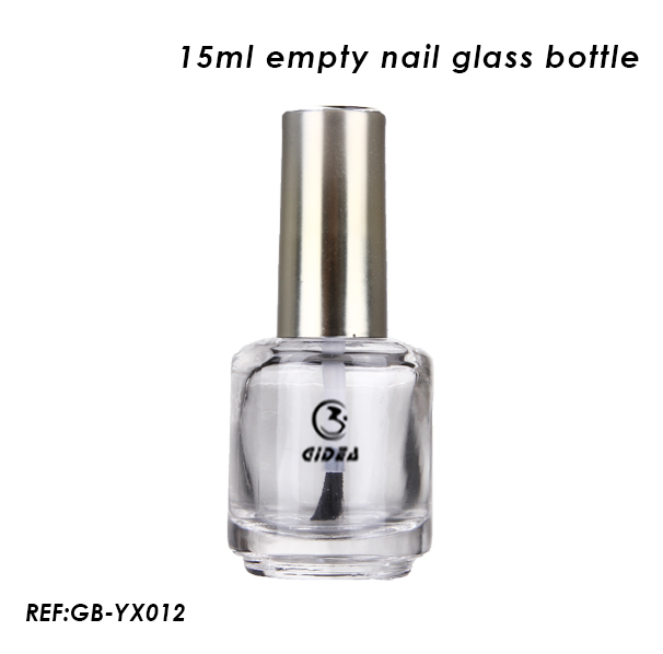 15ml Empty Round Nail Polish Glass Bottle
