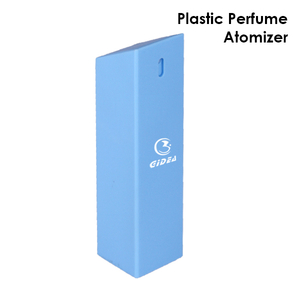 35ml 40ml 45ml Square Shape Pp Blue Refillable Perfume Spary Bottle
