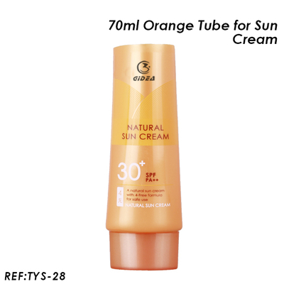 70ml Orange Oval Tube