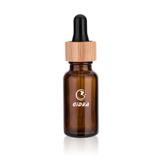 30ml Amber Glass Serum Bottle with Bamboo Collar