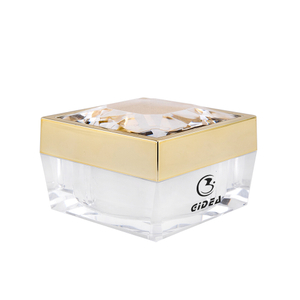 50g Gold Cap Transparent Body Square Cosmetic Cream Jar