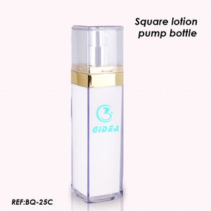 30ml 50ml 100ml Square White Lotion Pump Bottle