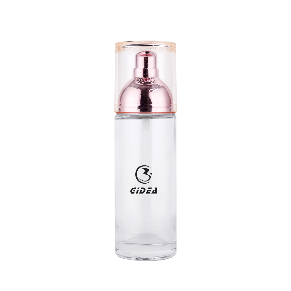 40ml 100ml 120ml Cosmetic Pump Lotion Bottle Glass