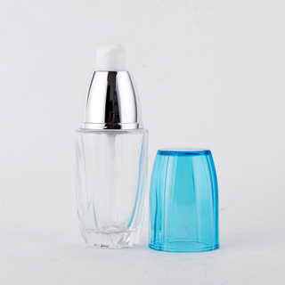 40ml 100ml 120ml Pump Bottle Glass Cosmetic