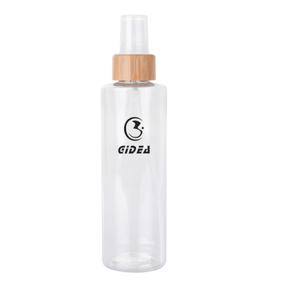 100ml 250ml PET Plastic Spray Pump Bottle With Bamboo Collar