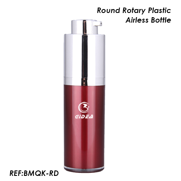 15ml 30ml 50ml Round Rotary Packaging Plastic Airless Bottle