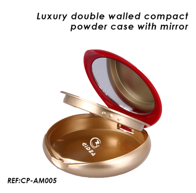 Luxury Double Wall Empty Compact Powder Case