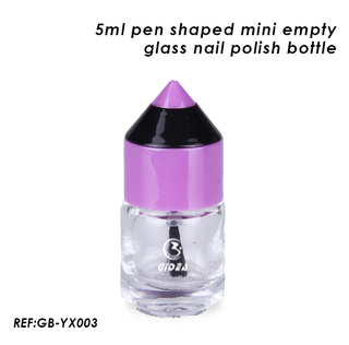 5ml Mini Glass Nail Polish Bottle Pen Shaped Glass Nail Bottle
