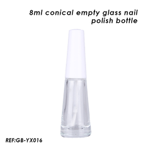 8ml Empty Conical Glass Nail Polish Bottle with Caps