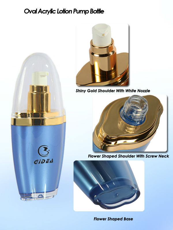 15ml 30ml 50ml Oval Acrylic Cosmetic Bottle
