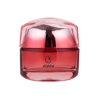 55g Red Makeup Glass Comestic Colored Jar