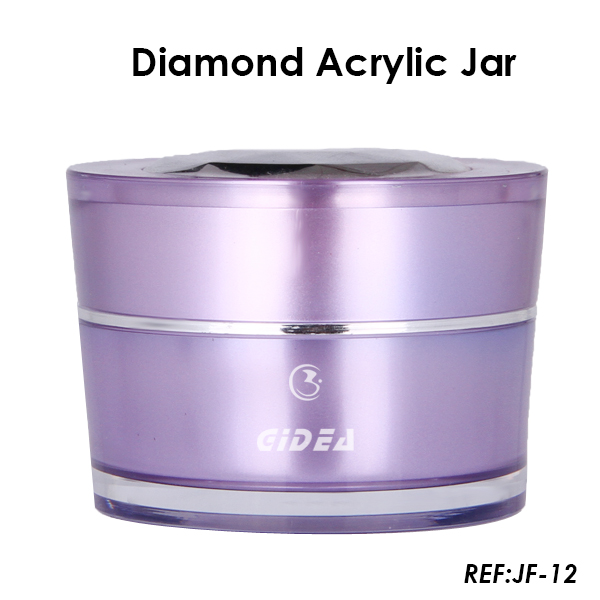 15ml 30ml 50ml V-Shape Purple Acrylic Cosmetic Jars for Beauty Products