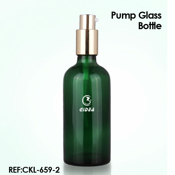 Glass Green Essential Oil Bottle