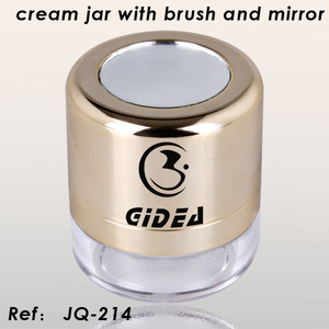 Cream Jar with Puff And Mirror