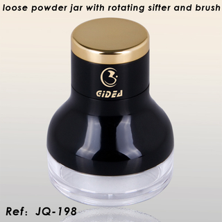 Loose Powder Jar with Rotating Sifter And Jar
