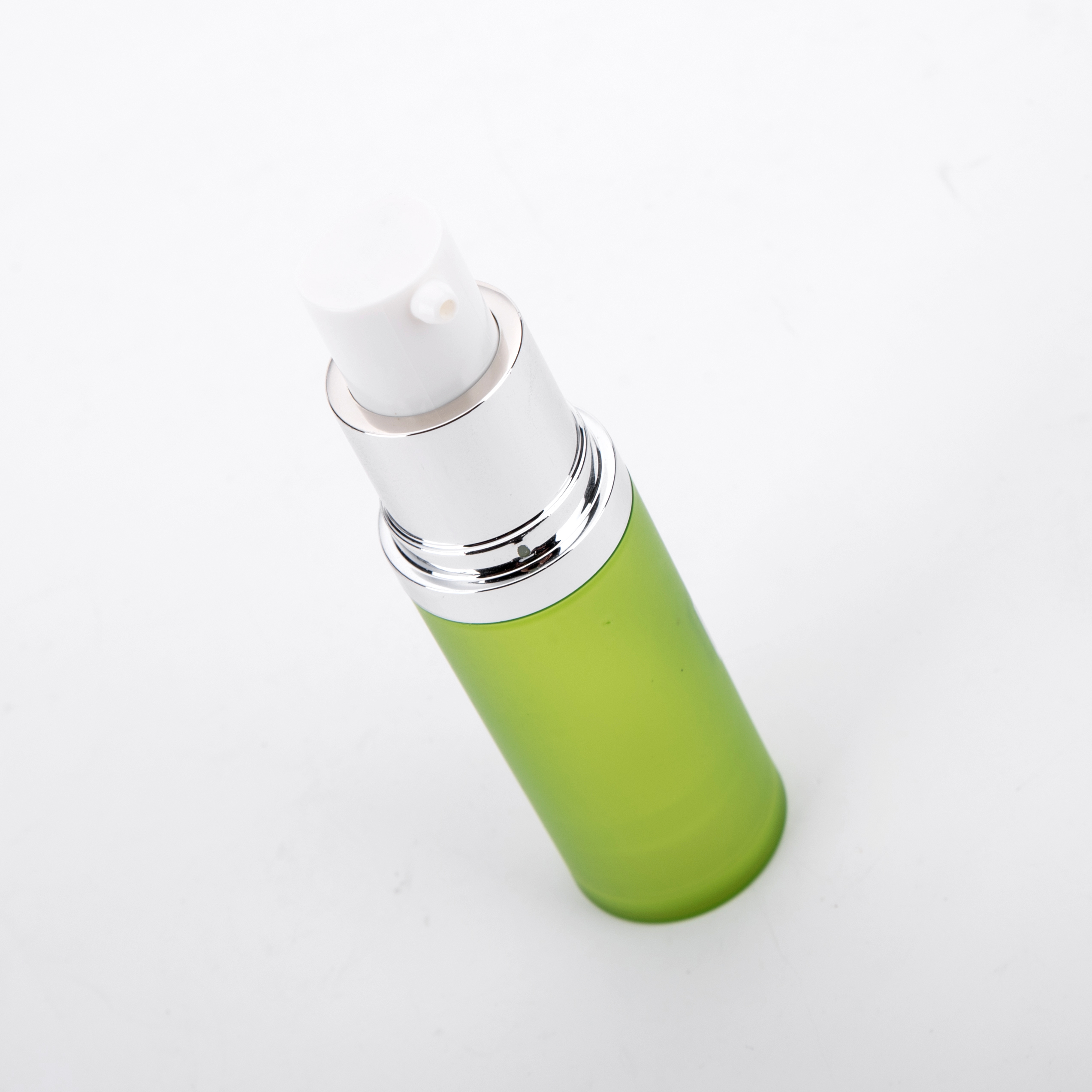 15ml 20ml 30ml 50ml Round Empty Green Plastic Bottle