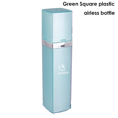 15ml 30ml 50ml Green Square Airless Pump Packaging Bottle Custom Logo