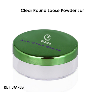 Clear Round Loose Powder Packaging Jar