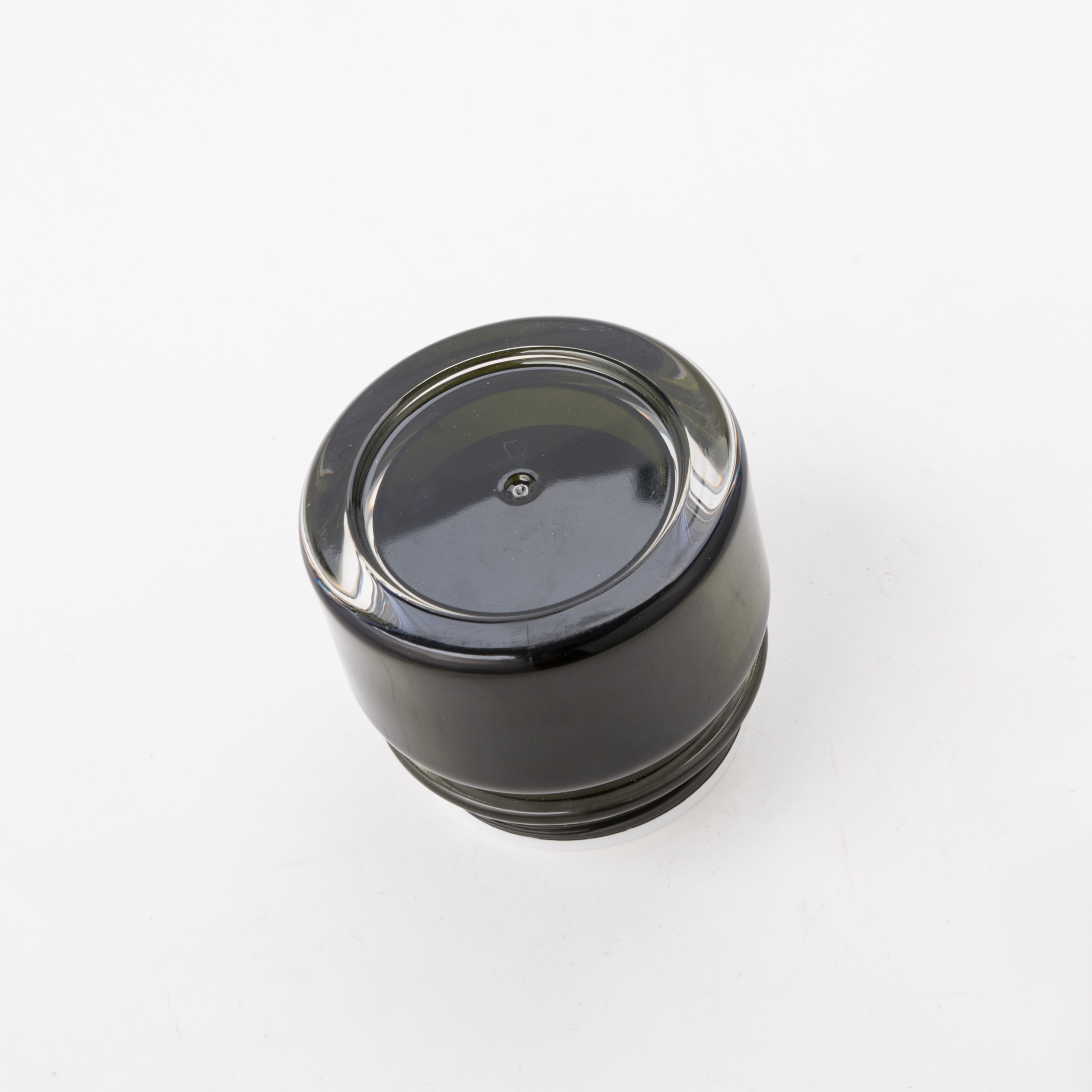 30g 50g Black Plastic Cosmetic Pmma Jar for Cream